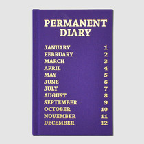 Press permanent hardcover undated diary - purple