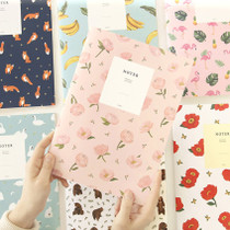 Lovable pattern noter lined notebook set