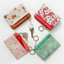 Willow story pattern card case with keyring