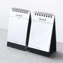 Calli dual checklist spiral desk notepad