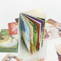 Classic fairy tale story illustration postcard book