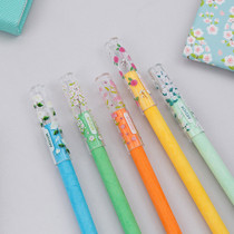 Bling flower clear pencil cap set