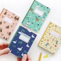 Willow story pattern small lined notebook