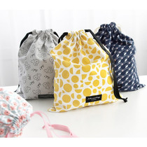 Comely pattern large drawstring pouch