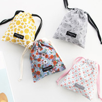 Comely pattern medium drawstring pouch