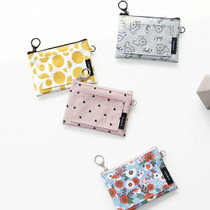 Comely pattern flat pocket card case