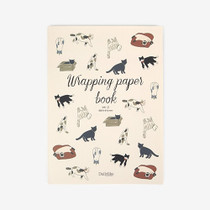 Pattern wrapping paper book with stickers