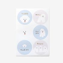 Bichon frise message paper sticker set