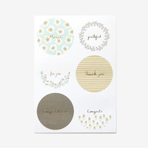 Warm flower message paper sticker set