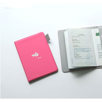 Passport cover - hot pink