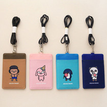 Gagcon friends flat card holder with neck strap