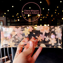 Cherry blossom clear folding pencil case