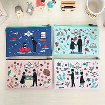 Boy and Girl cartoon zipper pouch