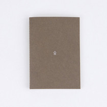 Forest sewn bound A6 grid notebook