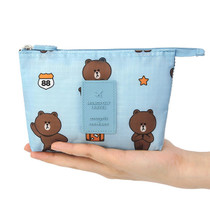Line friends travel mesh small zipper pouch