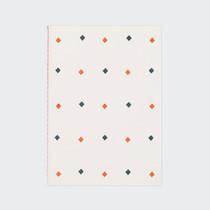 Diamond pattern sewn bound A5 lined notebook