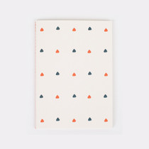 Spade pattern sewn bound A5 lined notebook