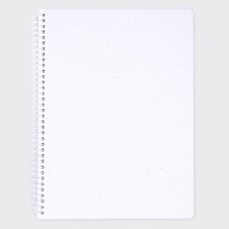 Starry white spiral plain notebook