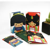 Korea traditional RFID blocking passport case