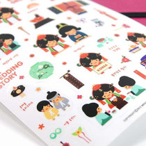Korean traditional wedding deco sticker
