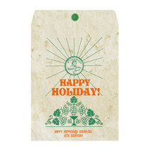 Vintage green holiday gift bag envelope set