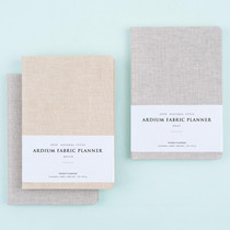 2018 Linen fabric cover dated weekly planner