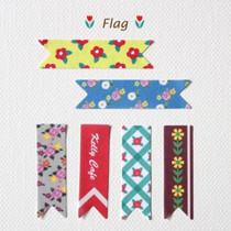 Flag retro deco paper sticker