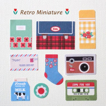Retro Miniature deco paper sticker