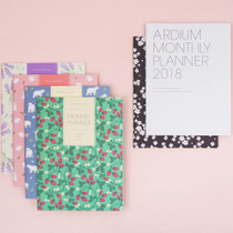 2018 Pattern dated monthly large planner