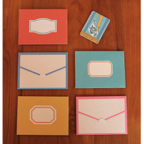 Vintage pattern small folded card set