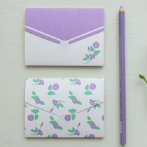 Morning Glory pattern small folded card