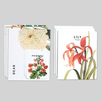 Flower illustration card set ver.3