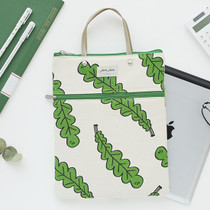 Foliage - Jam Jam pattern zipper small tote bag