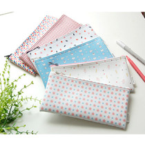 Pattern zipper slim pencil case