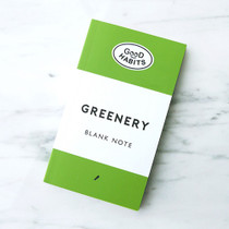 Good habits Greenery plain notebook