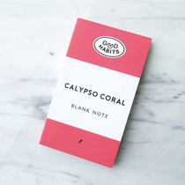 Good habits Calypso coral plain notebook