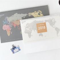 2018 Worldwide desk spiral dated monthly planner