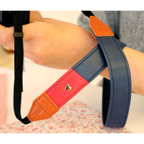Alice camera strap - navy and red