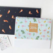 2018 Pattern desk spiral dated monthly planner