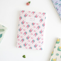 2018 Licoco flower pattern dated weekly diary scheduler