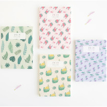 2018 Licoco flower pattern small dated weekly diary