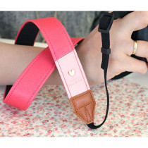 Alice camera strap - Pink and Baby pink