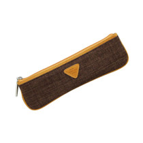 Skinny pencil case - mocha brown