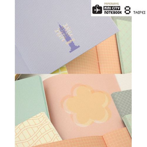 Paperways Mini Graphic Patterns Notebook Set Of 2 Notes