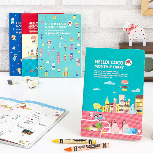 2015 Ardium Hello coco monthly dated diary