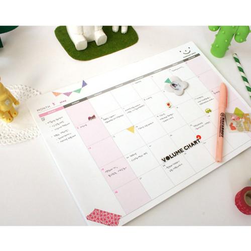 Pland Wide Amp Smart Monthly Desk Note Planner Scheduler