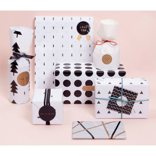 Pattern wrapping paper set