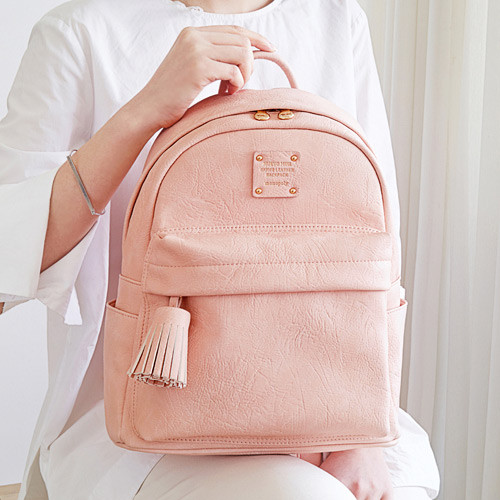 Monopoly Nuevo mini office leather backpack with tassel - fallindesign