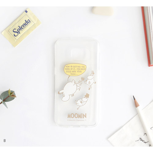 Romane Moomin Tpu Clear Soft Case For Galaxy S7 Edge