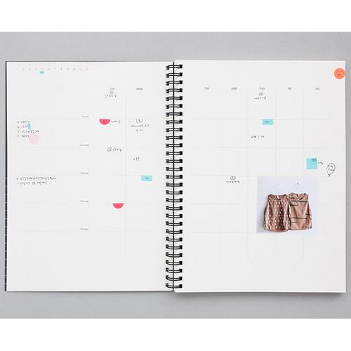 2017 Livework Mon cahier wirebound large undated daily planner